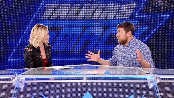 Renee Young and Daniel Bryan hosted the entertaining weekly interview programme (image: wwe)