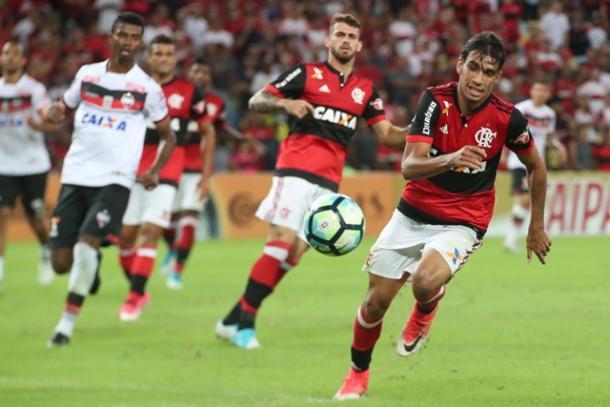 Com jovens, Fla não conseguiu furar o bom sistema defensivo do Dragão   Foto: Gilvan de Souza/Flamengo