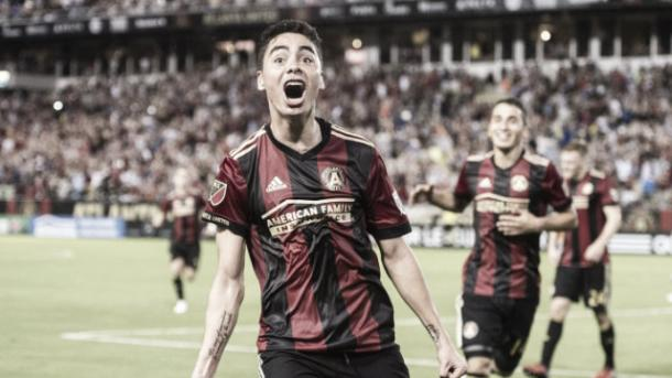 Miguel Almiron has made an instant impact since debuting for Atlanta in March. Photo: CBS Atlanta