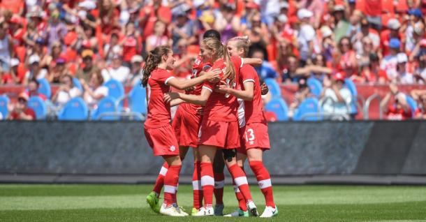 Team goal celebration | Photo: canadasoccer.com