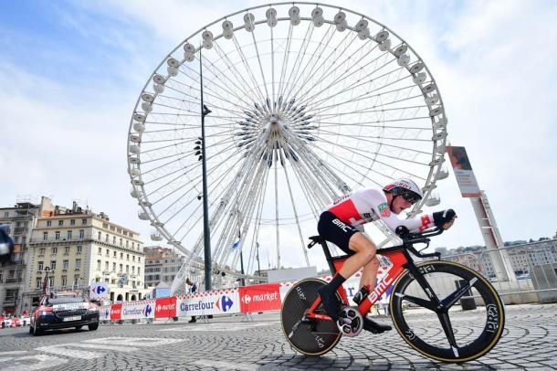 Stefan Kueng, en la crono de Marseille. | Foto: TDF
