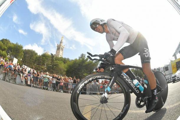 Un segundo va a separar a Landa del podio final en París. | Foto: TDF