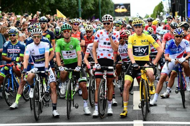 Los cuatro maillots del Tour 2017. | Foto: TDF