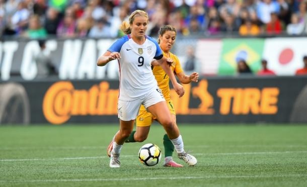 Lindsey Horan and Katrina Gorry at the 2017 Tournament of Nations l Source: ussoccer.com