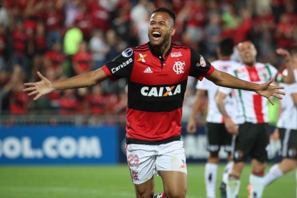 Enfim, Geuvânio marcou seu primeiro gol com a camisa do Flamengo | Foto: Gilvan de Souza/Flamengo