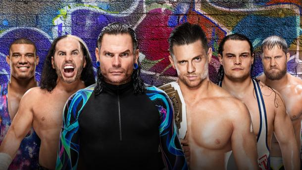 Can The Hardys continue their impressive return with a win over The Miz and his Miztourage with the help of Jason Jordan? (image: wwe)