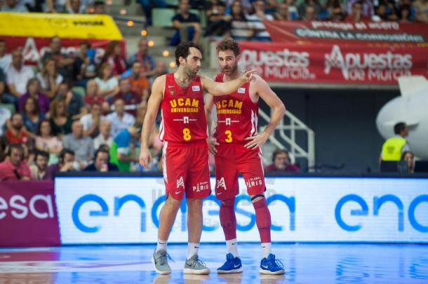 Urtasun legó a última hora para ayudar al equipo | Fotografía: UCAM Murcia
