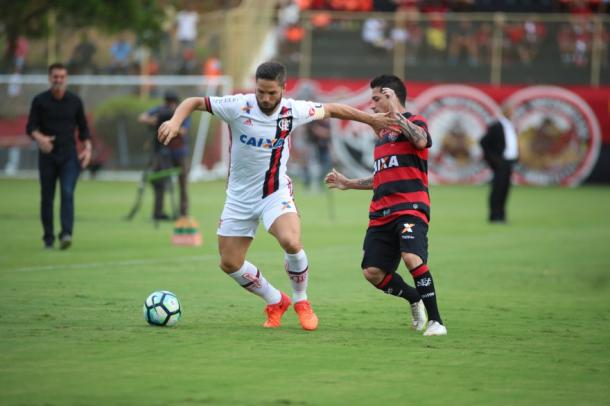 Diego foi mal mais uma vez e teve primeiro tempo apático | Foto: Gilvan de Souza/Flamengo