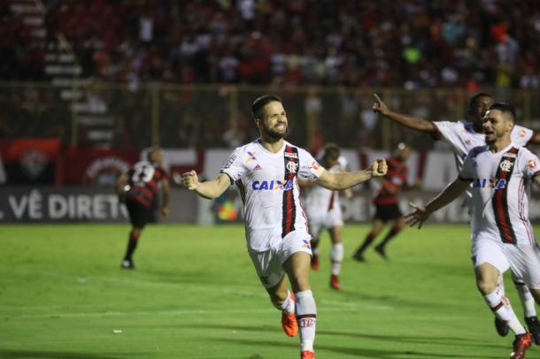 Diego teve atuação exaltada pelo treinador Rueda (Foto: Gilvan de Souza/Flamengo)