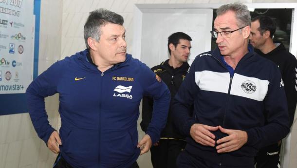 Pascual y Guijosa en el sorteo de la Copa ASOBAL | Foto:efe.com