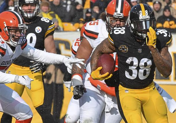 Ridley was a capable replacement for Conner when he joined the Steelers | Source: Peter Diana-Pittsburgh Post Gazette