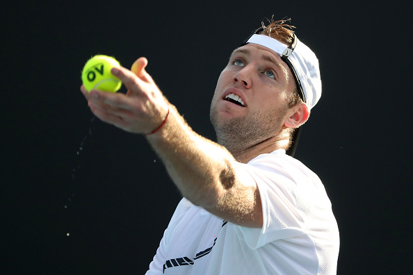 Jack Sock serving up a win (Photo: Scott Barbour/Getty Images)