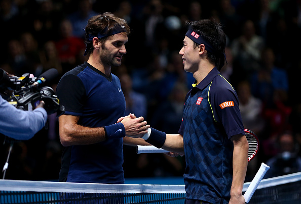 Kei Nishikori against Roger Federer in one of their last meetings (Photo: Clive Brunskill/Getty Images)