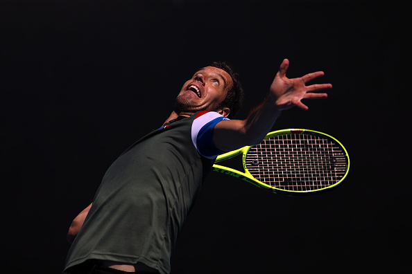 Richard Gasquet serves up a win against Carlos Berlocq (Photo: Cameron Spencer/Getty Images)