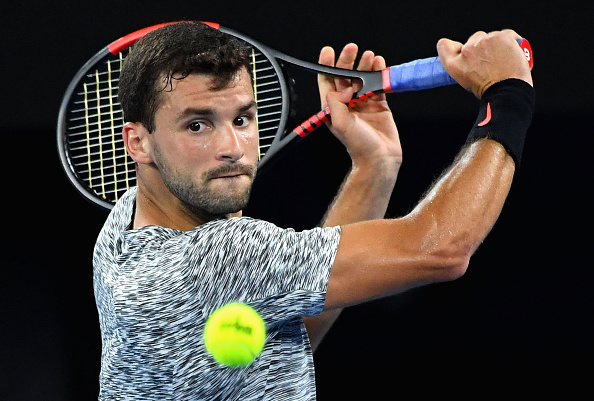 Grigor Dimitrov returns a shot to Richard Gasquet (Photo: Quinn Roone/Getty Images)