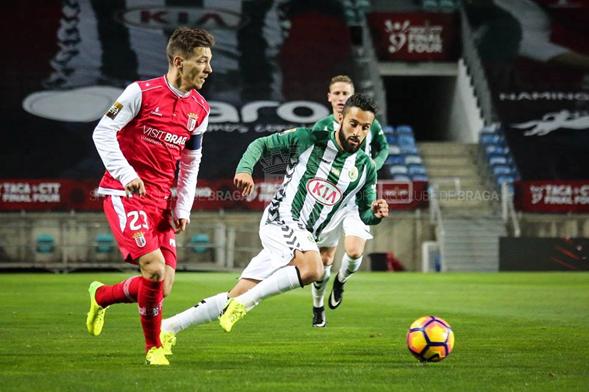 Pedro Santos en semifinales. Foto: Braga Oficial.