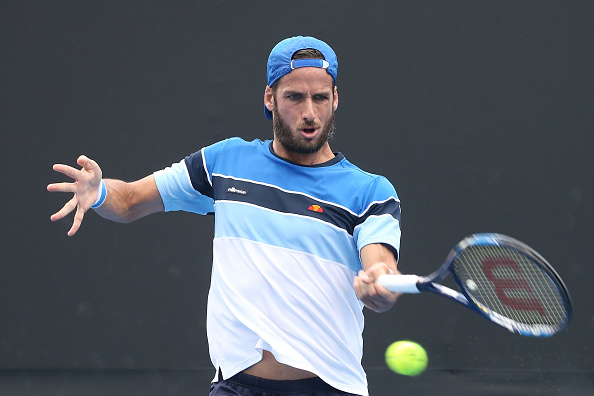 Feliciano Lopez strikes a forehand shot (Photo: Pat Scala/Getty Images)