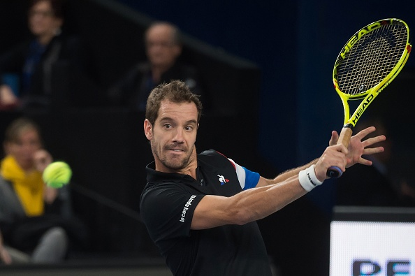 Richard Gasquet gears up to hit a return (Photo: Bertrand Langlois/Getty Images)