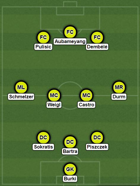 Borussia Dortmund, 3-4-3