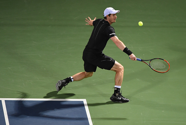 Andy Murray in action at the Dubai Tennis Championships (Photo: Tom Dulat/Getty Images)