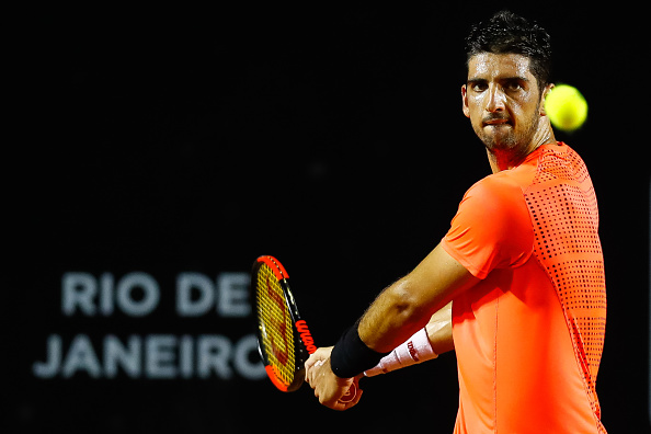Thomaz Bellucci in action at the recent Rio Open (Photo: Buda Mendes/Getty Images)