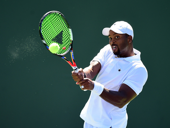Donald Young strikes a forehand shot (Photo: Harry How/Getty Images)