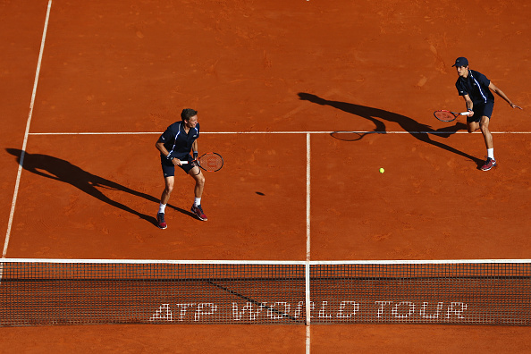Pierre-Hugues Herbert and Nicolas Mahut in action at the Monte-Carlo Rolex Masters (Photo: Michael Steele/Getty Images)