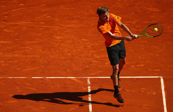 David Goffin strikes a backhand shot (Photo: Clive Brunskill/Getty Images)