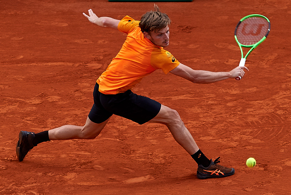 David Goffin during his three set win over Dominic Thiem (Photo: fotopress/Getty Images)