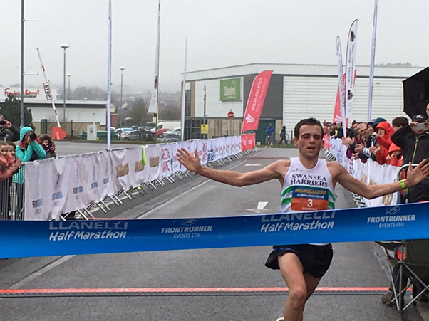 Joshua Griffiths crossing the finish line (Photo: @JoshGriff311/Twitter)