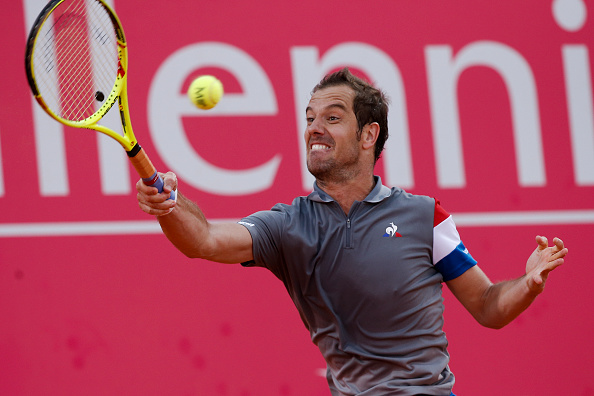 Richard Gasuet playing a forehand volley (Photo: Carlos Palma/Getty Images)
