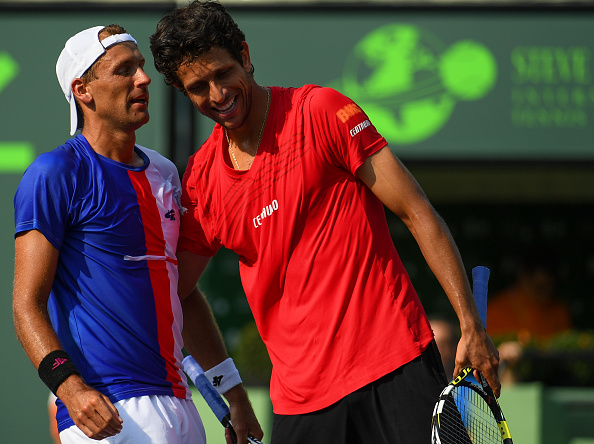Lukasz Kubot and Marcelo Melo during Miami Masters (Photo: Rob Foldy/Getty Images)