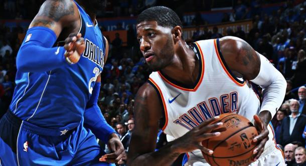 Paul George volvió a liderar la anotación con 37 puntos | Foto: nba.com/thunder