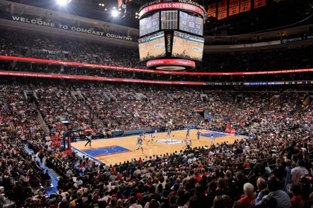Así suele lucir el Wells Fargo Center con su 'The Process' | Foto: nba.com