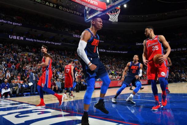 Westbrook dio la cara cuando más se le necesitaba | Foto: nba.com/thunder vía Getty Images