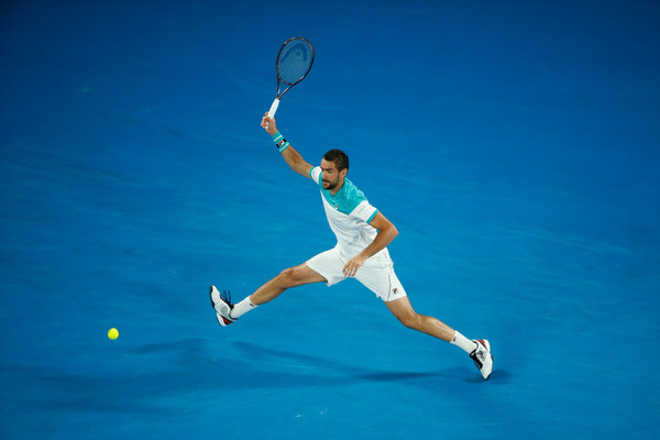 Cilic's defense has been a hallmark of his game in Melbourne (Scott Barbour/Getty Images AsiaPac)