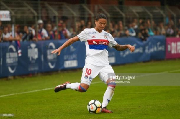 Dzsenifer Marozsán took over the game for OL | Source: Alexandre Dimou/Icon Sport
