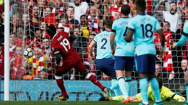 Mané marcó el único gol de la primera mitad | Foto: Premier League.