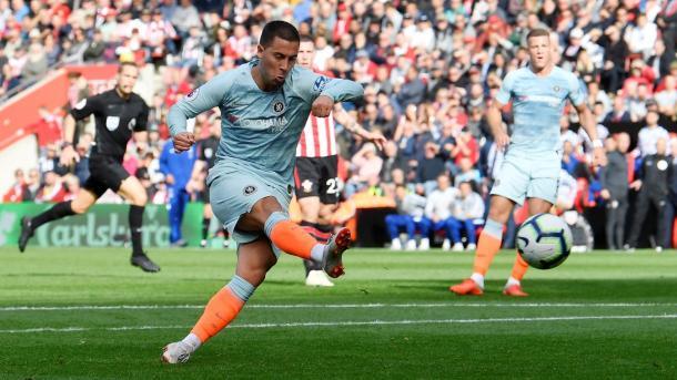 Hazard abrió el marcador | Foto: Premier League.