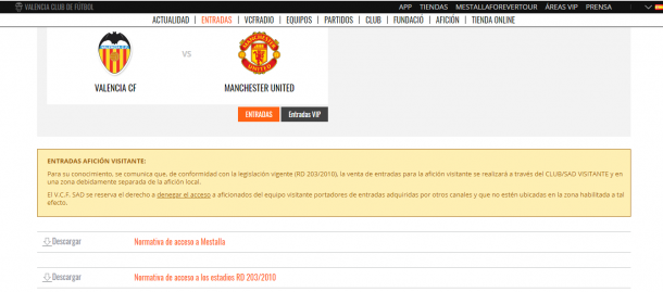 Comunicado del Valencia respecto a entradas | Web Valencia CF