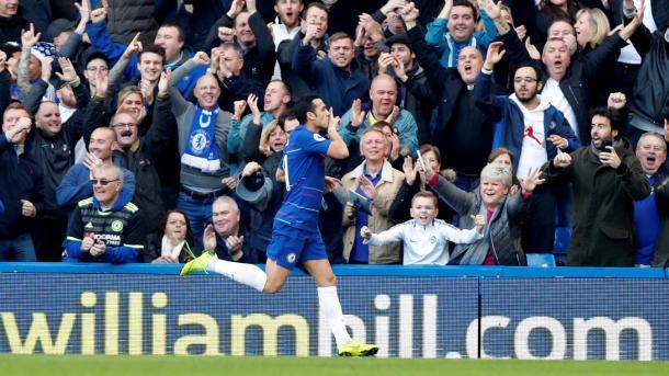Pedro festeja su gol   Foto: Getty Images.