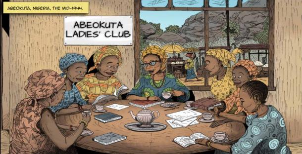 Funmilayo Ransome-Kuti. The Comic Strip. Fuente: UNESCO