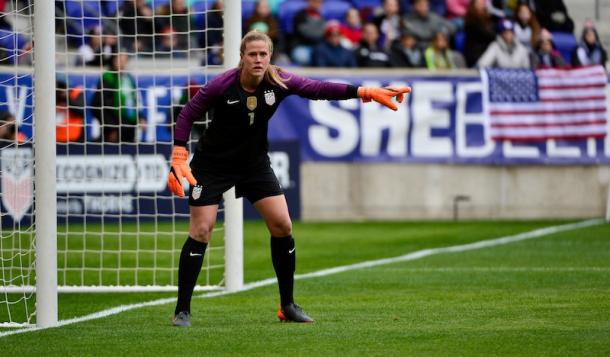 Alyssa Naeher is the #1 goalkeeper for the USWNT. | Photo: ussoccer.com
