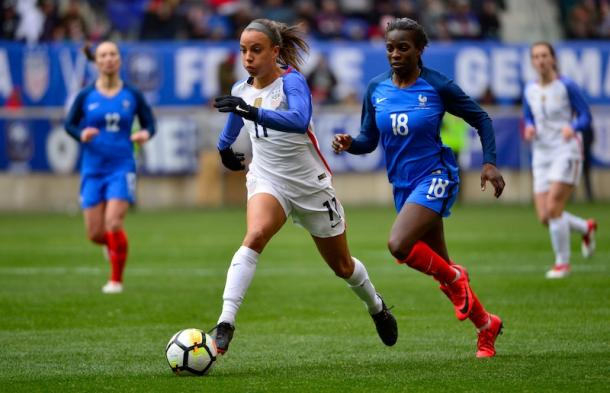 Mallory Pugh will look to solidify her spot on the World Cup roster (photo via ussoccer.com)