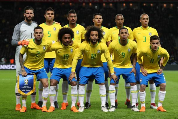 Brasil en un amistoso ante Alemania (Alves no estará por lesión) | Foto: CBF Futebol