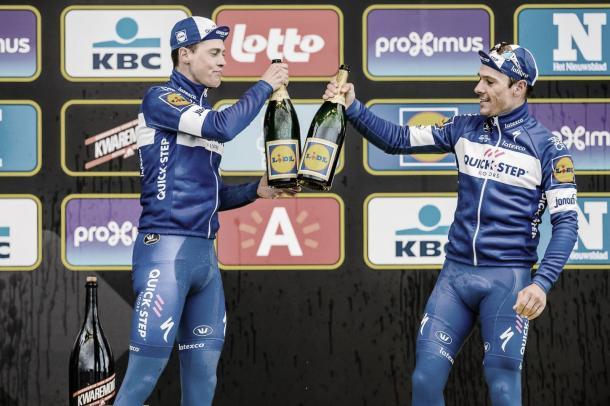 Niki Terpstra y Philippe Gilbert Tour de Flandes 2018 / rondevanvlaanderen.be