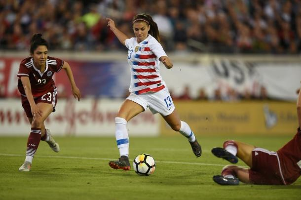 Alex Morgan had a stellar performance | Photo: ussoccer.com