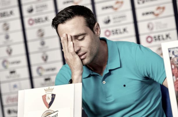 Despedida entre lágrimas de Javi Flaño (fuente CA Osasuna)
