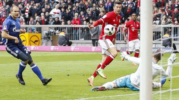 Il gol di Lewandowski. Foto: Eurosport