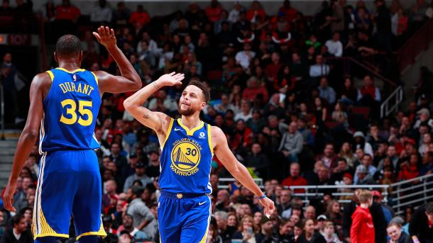 Curry lleva varias semanas a nivel MVP | Foto: nba.com/warriors